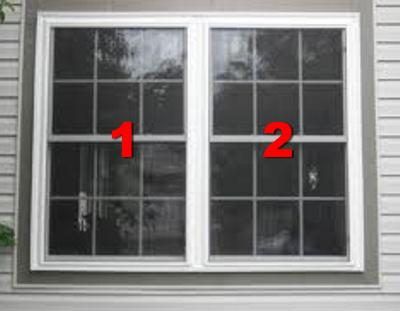 3 Non Standard Full Hung Windows With Fixed Grids 18 Panes Each