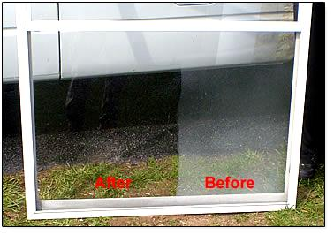 aluminum screens window cleaning